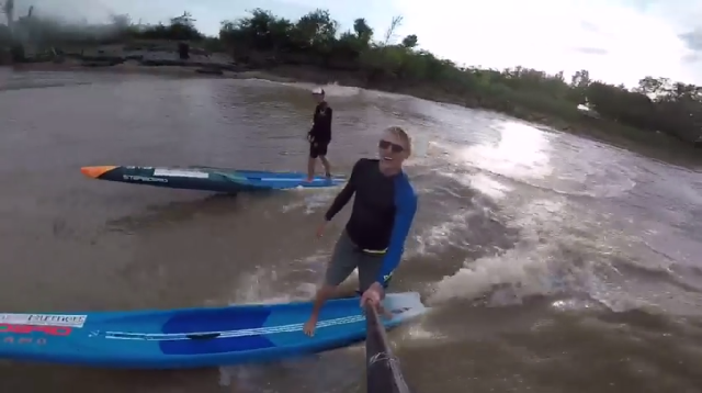 SUP Surf on a French Tidal Bore