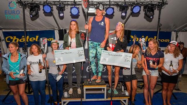 Thonon SUP women podium