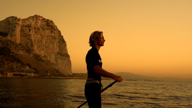 Awesome SUP Sunrise in Gibraltar