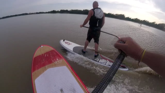 SUP Surfing Over a Tidal Bore with Redwoodpaddle