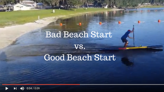 Bad Beach Start vs. Good Beach Start by Robert Norman