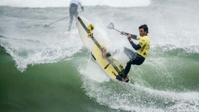 Mo Freitas fighting off cold conditions at the ISA World Championship in Denmark