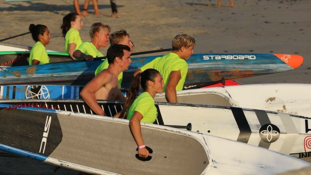 The Paddle Academy's paddlers prepare ahead of the Pacific Paddle Games 2017
