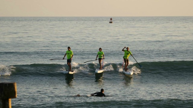 Paddlers from The Paddle Academy practice ahead of the 2017 Pacific Paddle Games