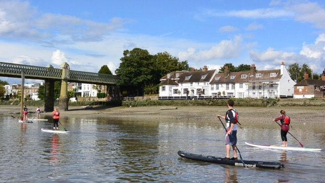 Members of Active360 paddle the Thames