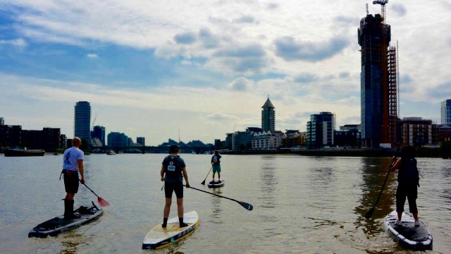 Active360 members paddling along the Thames