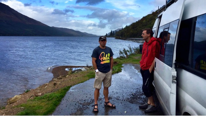 Allistair Swinsco and teammate survey the scene before setting out on the Great Glen Paddle Challenge 2017