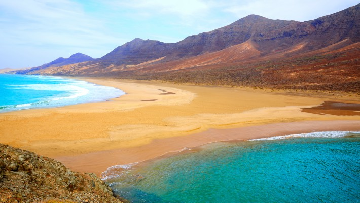 Barlovento Beach in Fuerteventura, the Canary Islands, Spain