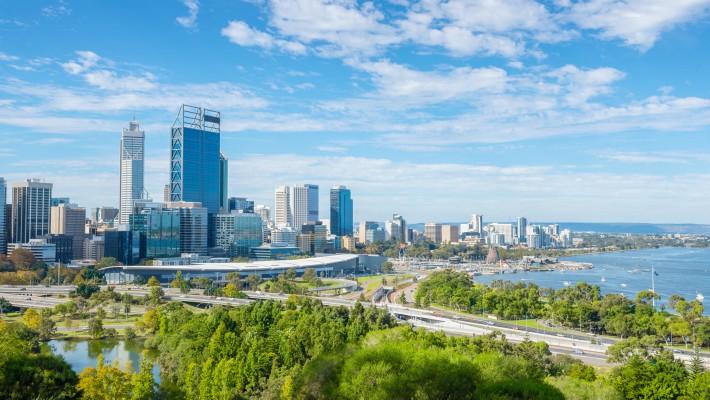 Skyline of Perth, Western Australia