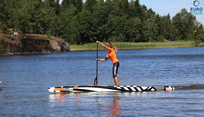 Susak Molinero engaging in some SUP activity during a stage of the Euro Tour
