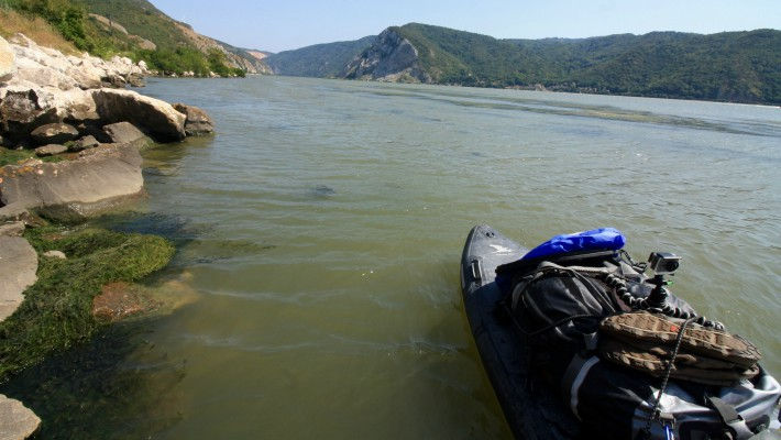 Mark Hines before he sets out again along the Danube