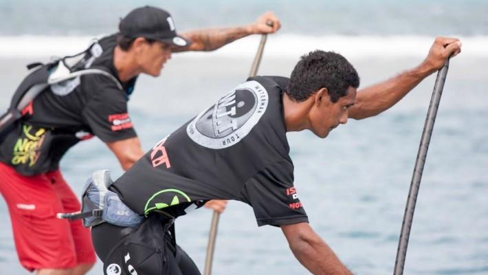 Niuhiti-Nui Buillard s'entraîne avec un ami de longue date à Tahiti