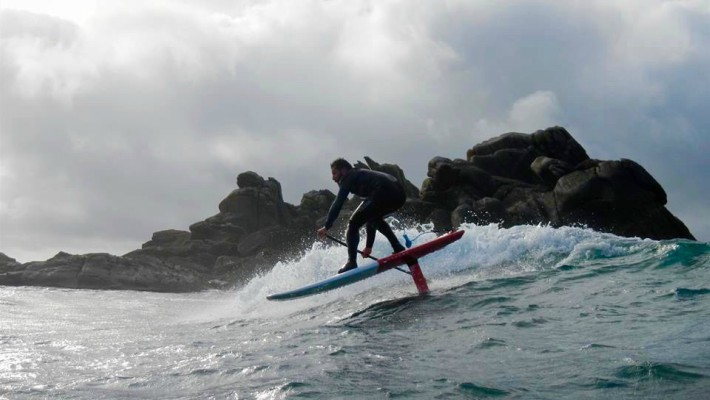 Greg Closier tackles some sizeable waves in Brittany