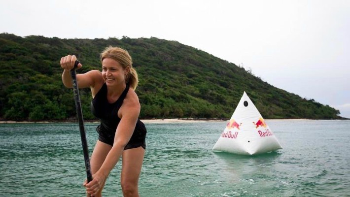 Karla Gilbert takes place in a Red Bull-sponsored SUP event