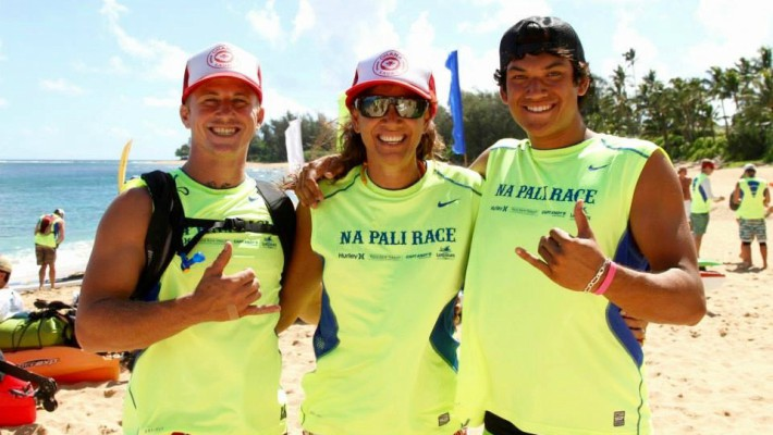 Tehotu Wong takes part in the Na Pali Race 2017