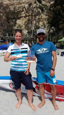 Greg Closier and I at the Dana Outrigger Challenge
