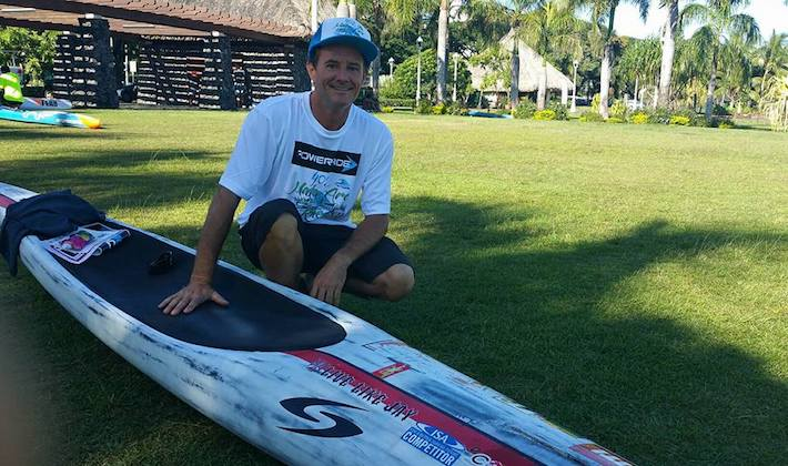 Alexy Berther, président de la commission sup & prone à Tahiti
