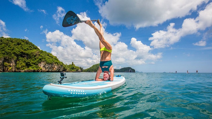 Sunrise Starboard SUP Yoga in Thailand
