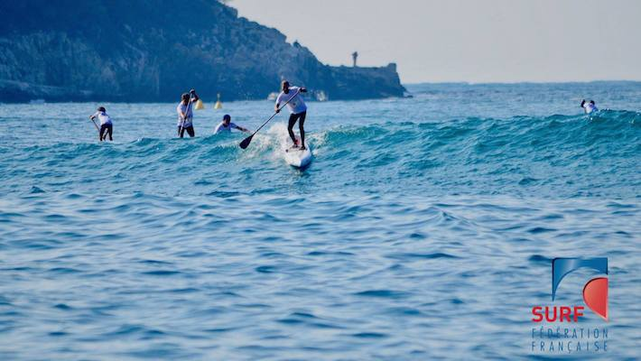 Martin Vitry, Inès Blatge and Fanny Tessier Winners in Giant Waves at the Inaugural Villefranche Paddle Race