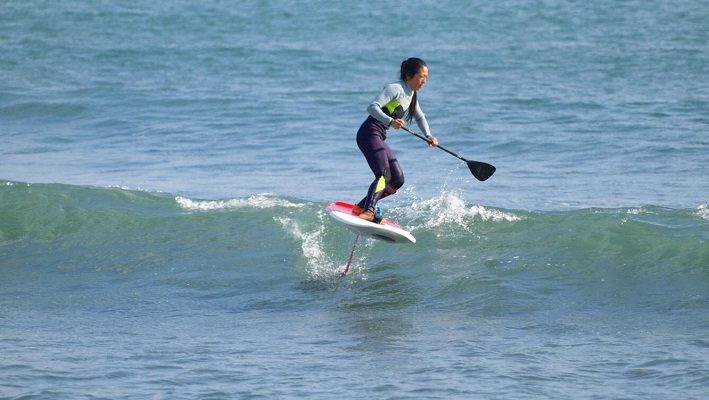 Yuri Takimoto Flying Above the Waves With Takuma Concept