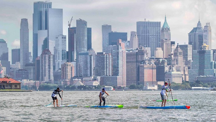 Recap of The New York SUP Open The Lady Liberty Race on Hudson