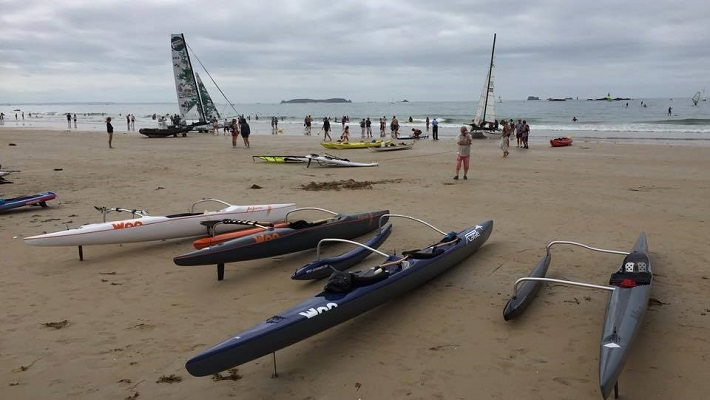 3 French SUP Paddlers Talk about Discovering WOO Outrigger Paddling