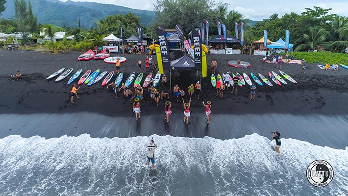 Le Waterman Tahiti Tour de Marie Esnaola – Résumé et Résultats du Round 2 du Papara Black Sand Beach Break