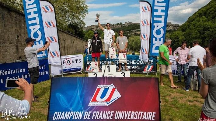 Loïs Chardebas 1er Champion de France Universitaire de SUP race