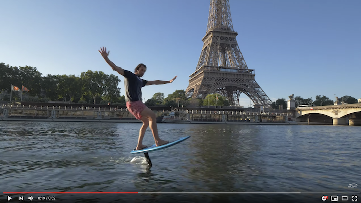Surf Foiling Paris: Ludovic Dulou Flies Over the City of Lights with Oxbow