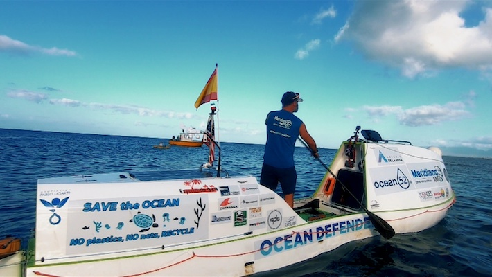 Spanish athlete Antonio de la Rosa becomes first ever person to cross the Pacific Ocean stand up paddling