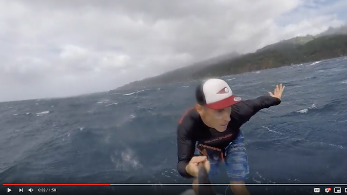 SUP Foil Tahiti: Flying over Tahitian waters with Julien Sudrat and Takuma