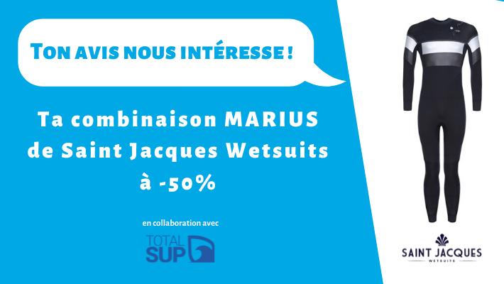 Saint Jacques Wetsuits : la combinaison Marius à -50% en échange de ton expérience !