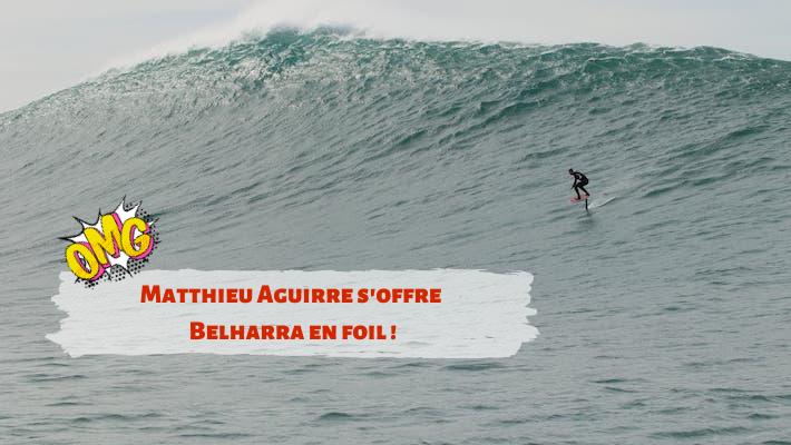 L'énorme session en foil de Matthieu Aguirre à Belharra