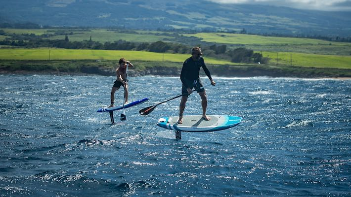 SIC Maui 2020 : Mark Raaphorst and Lincoln Dews in Hawaii on two 2020 SUP Foil models