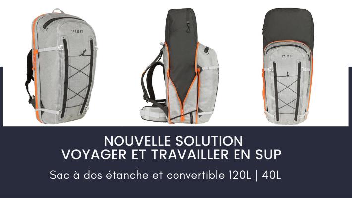 Itiwit lance le sac à dos étanche et convertible pour se déplacer facilement avec son paddle gonflable !