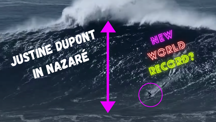 Justine Dupont surfs the biggest wave of her life (to date) in Nazaré