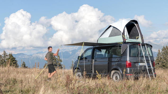 Decathlon launches an innovative inflatable rooftop tent for van users