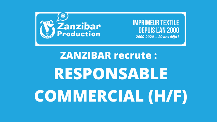 Zanzibar Production recrute : Responsable Commercial