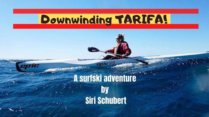 Siri Schubert Downwinds Tarifa on a 1-Week Surfski Camp