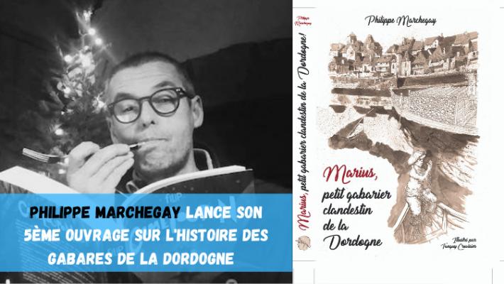Philippe Marchegay raconte les gabares de la Dordogne dans son 5ème ouvrage