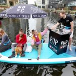 World's first paddleboard ice cream parlour makes maiden voyage for start of National Ice Cream Month