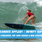 Candice Appleby celebrates her come back to the competition with a new USA National SUP Surf Title