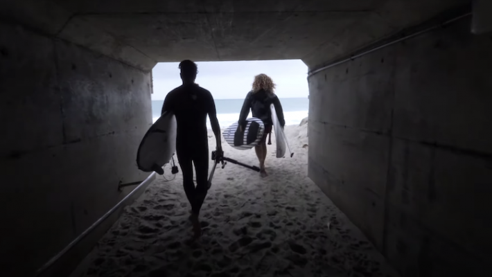 Infinity SUP surf board testing with Bernd Roediger and Anthony Maltese